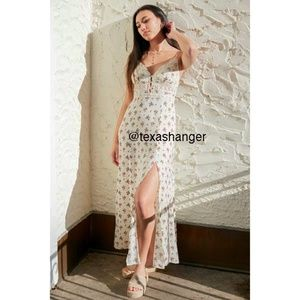 NWT Free People Out & About Maxi Slip Dress L